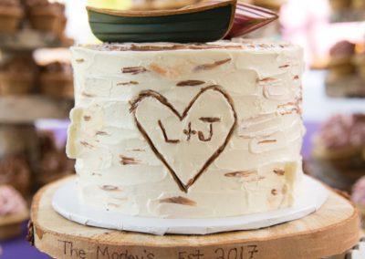 buttercream birch bark cutting cake
