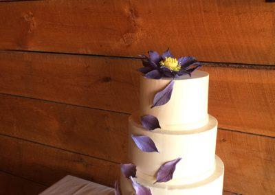 purple lotus wedding cake