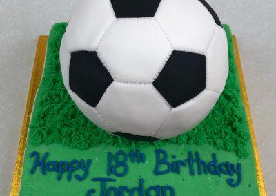 3D soccer cake