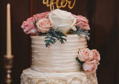 buttercream textures wedding cake