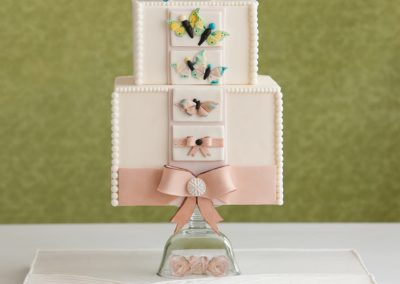 cake for Cake Central magazine with butterflies